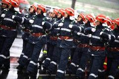 Sapeurs-pompiers de jour national de la Roumanie Images stock