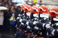 Sapeurs-pompiers de jour national de la Roumanie Photographie stock