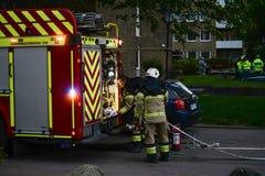Sapeurs-pompiers en Suède photo libre de droits