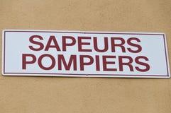 Sapeurs-Pompiers in Frankreich Stockbild