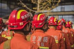Sapeurs-pompiers rayés photos libres de droits