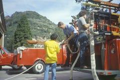 Sapeurs-pompiers volontaires photos stock