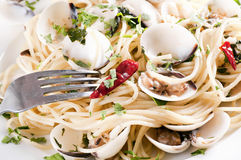 Sapghetti Vongole Stock Photo