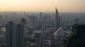 Saphan Taksin Bridge in Bangkok.Thailand. Aerial view of River with Saphan Taksin Bridge in Bangkok.Thailand stock video