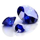 Saphir bleu Photographie stock