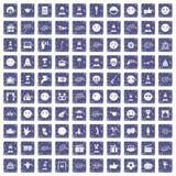 100 saphir grunge réglé d'émotion par icônes illustration libre de droits