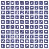 100 saphir grunge réglé d'animaux familiers par icônes illustration libre de droits