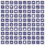 100 saphir grunge réglé d'auteur par icônes Image libre de droits
