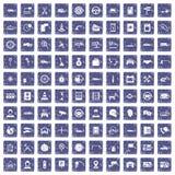 100 saphir grunge réglé de centre de service par icônes automatiques illustration libre de droits
