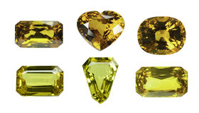 Saphir jaune images libres de droits