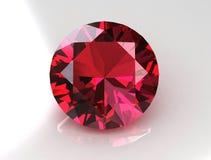 Saphir rose de grand rond - 3D Image libre de droits
