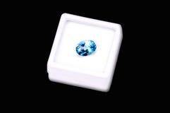 Saphire azul imagem de stock