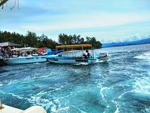 Sapi海岛,沙巴马来西亚 库存照片