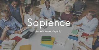 Sapience Highly Educated People Graphic Concept Royalty Free Stock Photo
