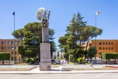 Sapienza大学城市,罗马看法  库存照片