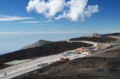 Sapienza Refuge on the volcano Etna Stock Photos