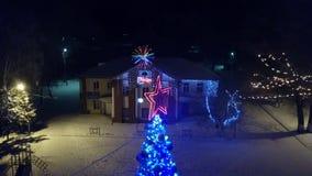 Sapin du ciel Noël ma version de vecteur d'arbre de portefeuille banque de vidéos