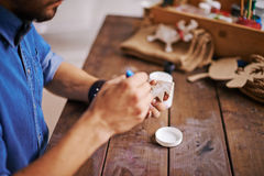 Sapin en bois de peinture Image stock