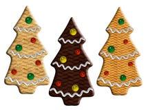 Sapins de gingembre de Noël Photographie stock