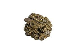 Sapo del dinero del sapo de dios o rana chino del dinero Imágenes de archivo libres de regalías