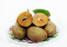 Sapoche eller sapodillafrukt arkivbilder