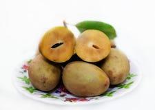 Sapoche lub sapodilla owoc Obrazy Stock