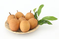 Sapodilla is a blackberry with sweet taste. Sapodilla is a blackberry with sweet taste and health Royalty Free Stock Images