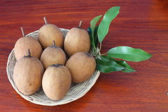 Sapodilla is a blackberry with sweet taste. Sapodilla is a blackberry with sweet taste and health Royalty Free Stock Photo