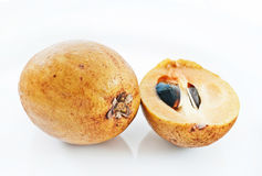 Sapodilla cut detail Royalty Free Stock Images