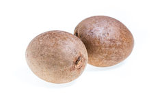 Sapodilla isolated Royalty Free Stock Images