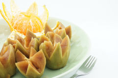 Sapodilla and orange. Sweet sapodilla and oranges as snacks healthy Stock Image
