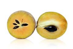 Sapodilla owoc Odizolowywaj?ca Na Bia?ym tle zdjęcie royalty free