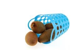 Sapodilla Thais fruit in mand Stock Afbeeldingen