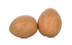 Sapodillafruit op witte achtergrond Royalty-vrije Stock Afbeeldingen
