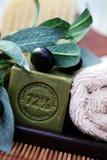 sapone dell'oliva dell'olio fotografie stock libere da diritti