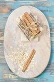 Sapone della farina d'avena della cannella Immagine Stock