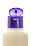 sapone di plastica dello sciampo aperto bottiglia Fotografia Stock Libera da Diritti