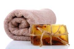 Sapone ed asciugamano Immagine Stock Libera da Diritti