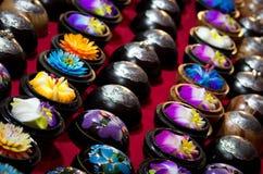 Sapone Handmade del fiore fotografia stock