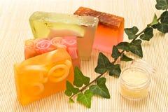 sapone handmade dell'accumulazione Fotografia Stock