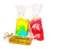 Sapone handmade imballato Fotografia Stock