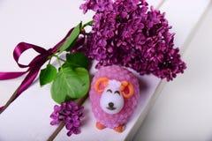 Sapone Handmade Sotto forma di agnello Fotografia Stock