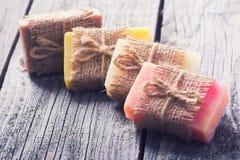 Sapone naturale Handmade Fotografia Stock
