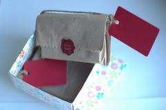 Sapone nell'imballaggio del regalo Fotografia Stock