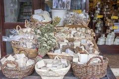 Saponi aromatici in un deposito tipico Immagini Stock Libere da Diritti