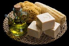 Saponi dell'olio d'oliva fotografia stock libera da diritti