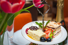 Sapore assortito delizioso dei dessert Fotografia Stock