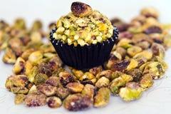 Sapore del pistache del tartufo di cioccolato fotografia stock