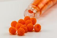 Sapore dell'arancia della gelatina Immagine Stock