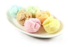 Sapori Assorted del gelato Immagine Stock
